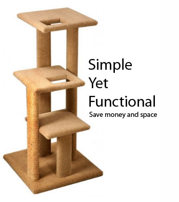 simple cat tree plans diy free download garage material