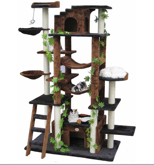 Cool cat trees pictures to pin on pinterest pinsdaddy for Cool cat perches