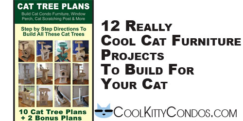 12 really cool plans to build your own cat furniture  CoolKittyCondos