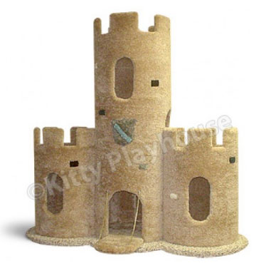 Make your cat feel like the king of your home with the for Castle cat tower